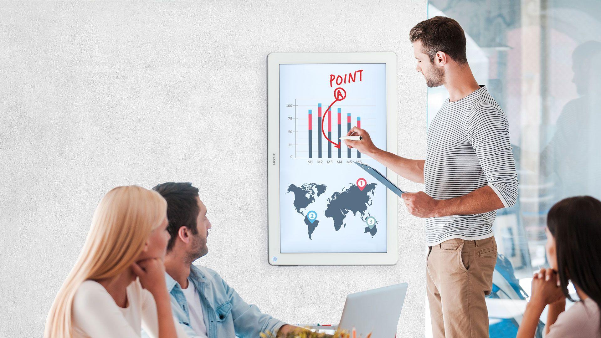 pantallas interactivas ricoh D3210 header - Pantallas interactivas Ricoh